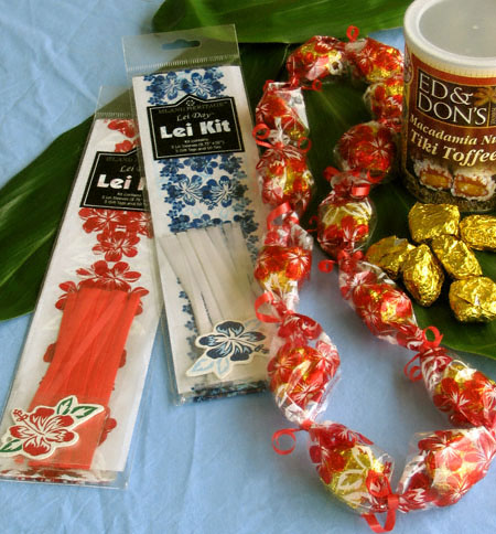 candy lei kits from Hawaii children's leis