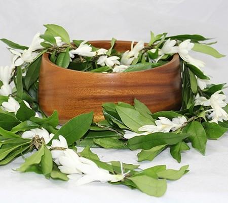 maile lei for graduation with fragrant tuberose
