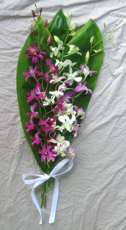 mixed orchid wedding bouquet