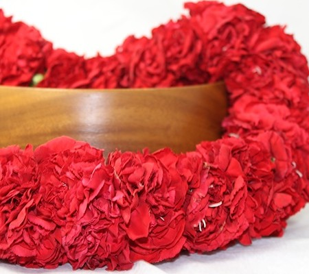 Hawaiian Carnation Lei Red