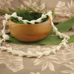 fragrant white Hawaiian lei single